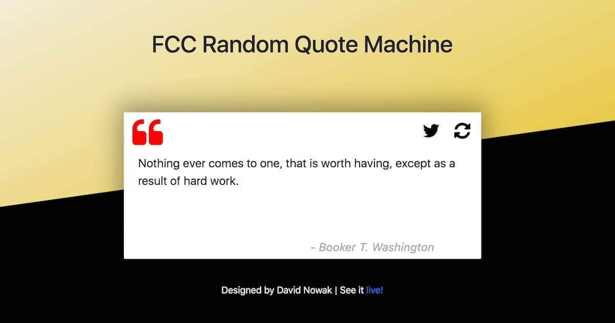 Random Quote Machine Generator By David Nowak CreateYourTale Simple Random Quote Generator